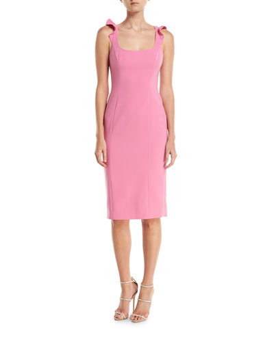 Marois Ruffle-Strap Sleeveless Cocktail Dress