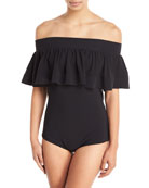 Deana Off-the-Shoulder One-Piece Swimsuit