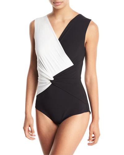 df2c9a3f2c Colorblock Nylon Swimwear | Neiman Marcus
