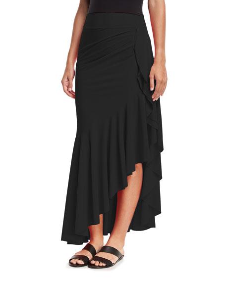 Chiara Boni La Petite Robe Josephine Ruffled-Hem Coverup Skirt