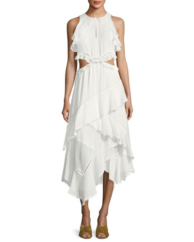 Camila Sleeveless Ruffle Tiered Maxi Dress