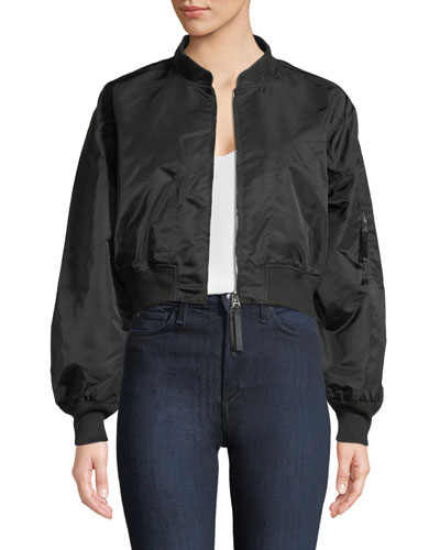Zip-Front Twill Jacket