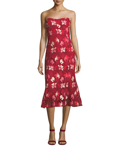 Aerie Floral Midi Cocktail Dress