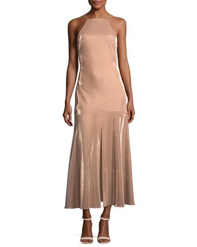 Opasidy Halter-Neck Midi Cocktail Dress