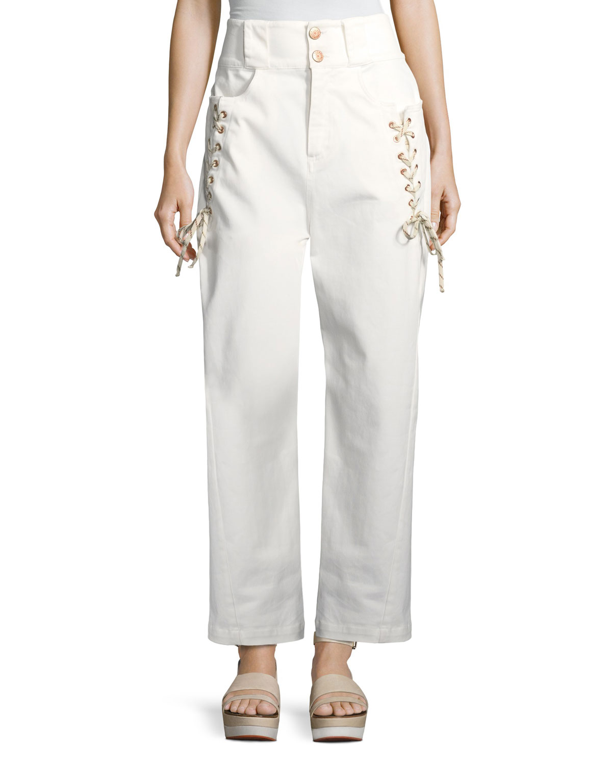 Lace-Up Trousers
