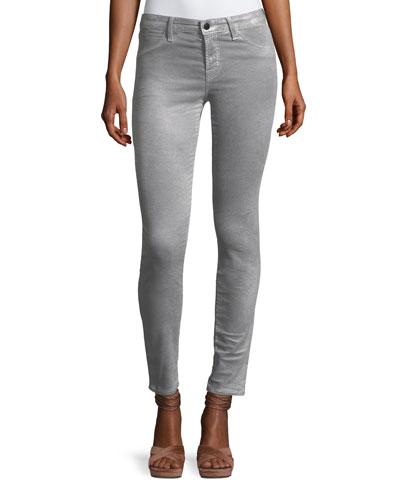 Mid-Rise Super Skinny Velvet Pants