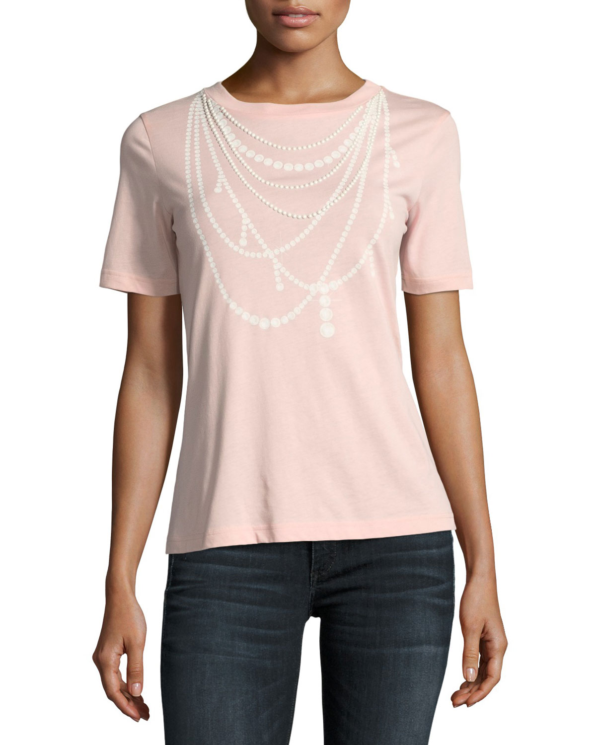 Pearl Necklace-Print Tee