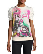 Marie Antoinette Graphic Short-Sleeve Sweatshirt