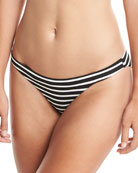 Luciana Striped Hipster Swim Bottom