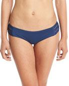 Emelia Solid Triple-Strap Swim Bikini Bottom