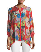 Mishka Printed Relaxed Tunic, Petite