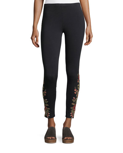 Libbie Embroidered Leggings, Petite
