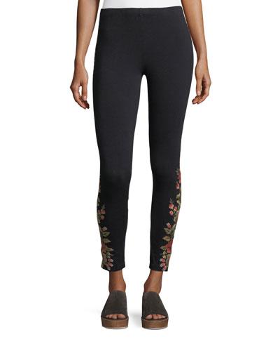 Libbie Embroidered Leggings, Plus Size