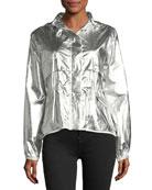 Jais Metallic Silver Jacket w/ Hood