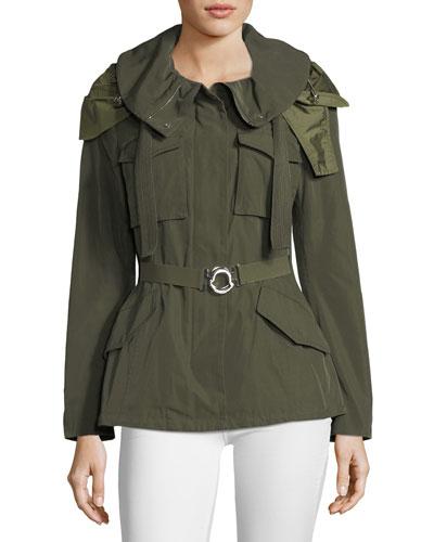 Sodalite Safari Belted Jacket