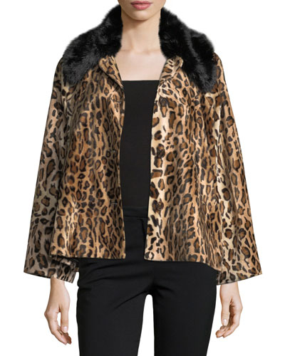 Windy Button-Front Leopard-Print Jacket