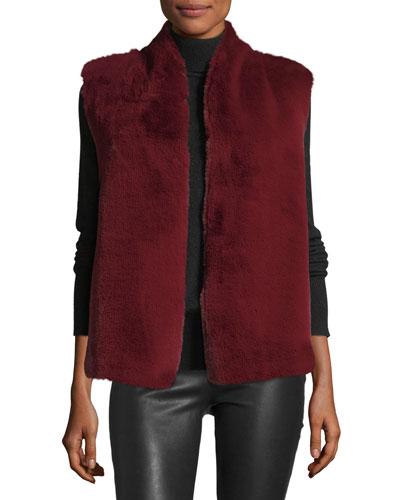 Jeanne Open-Front Faux-Fur Vest
