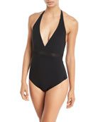 Do You Think I'm Sexy One-Piece Halter Swimsuit