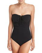 Picasso Bandeau One-Piece Swimsuit