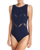 Les Essential High-Neck Underwire One-Piece Swimsuit