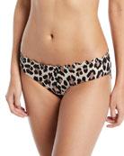 crystal cove leopard-print bikini swim bottoms
