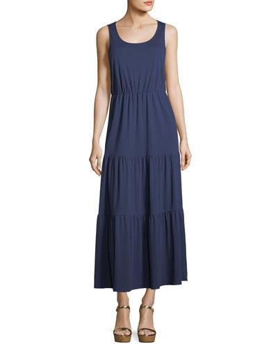Tiered Long Tank Dress, Plus Size