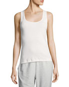 Joan Vass Rib Scoop-Neck Layering Tank