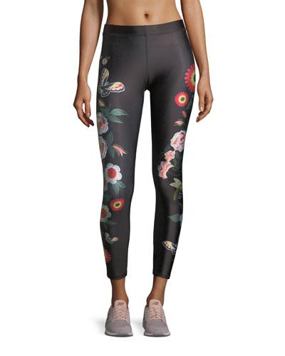 Terez Floral Juju Performance Leggings