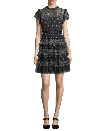 Andromeda High-Neck Cocktail Dress