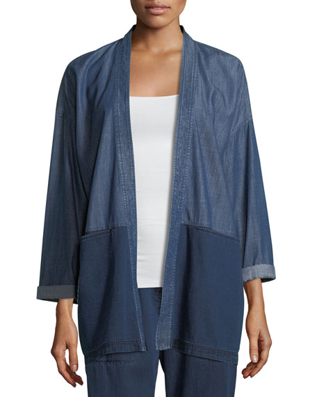 Eileen Fisher Tencel® Organic Cotton Denim Kimono Jacket