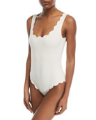 Palm Springs Scalloped One-Piece Swimsuit