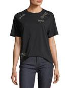 Studded Dragonflies Jersey T-Shirt