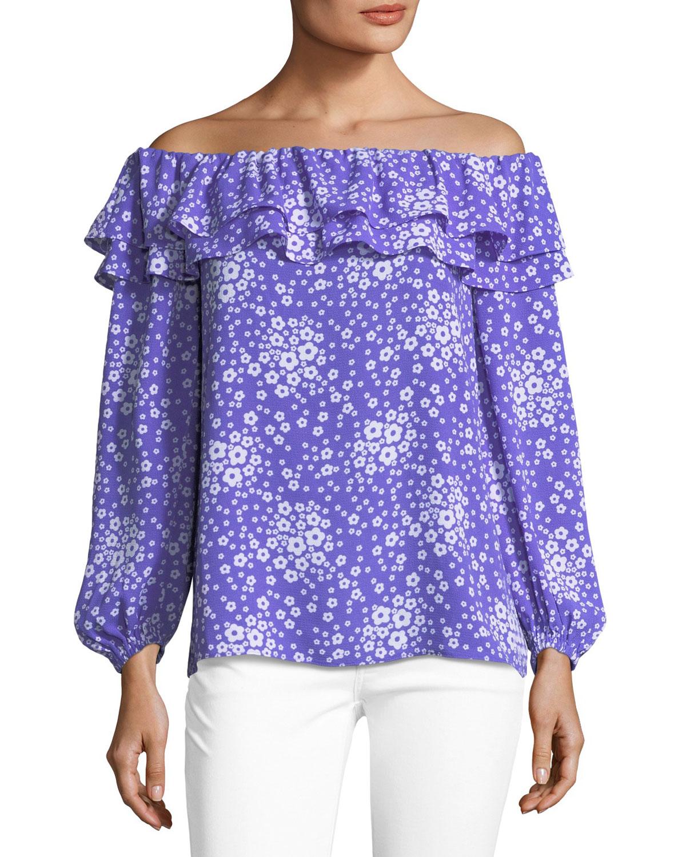 Off-the-Shoulder Mod-Floral Top