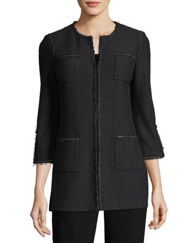 Soft Boucle Knit Jacket