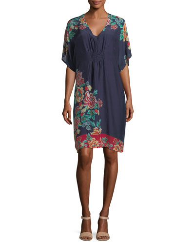 Johnny Was  CHARMROSE PRINTED TUNIC DRESS, PLUS SIZE