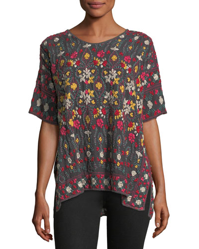Sibyll Georgette Embroidered Tunic