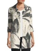 Natural Light Jacquard Jacket, Plus Size