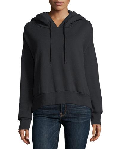 Branded-Hood Pullover Sweatshirt