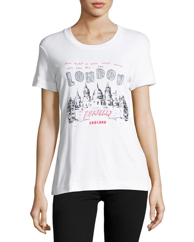London Scribble Graphic T-Shirt