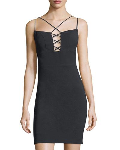 Starlett Techno Lace-Up Mini Dress