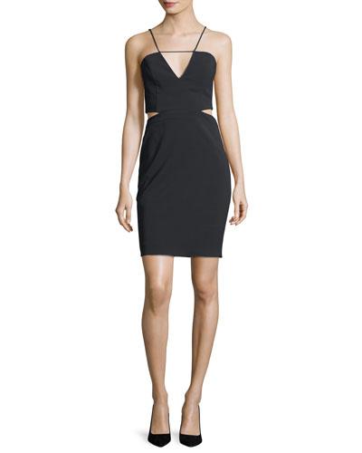 Melani Cutout V-Neck Mini Dress