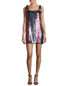Erykah Sleeveless Striped Sequin Dress