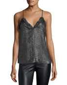 V-Neck Metallic Camisole Top