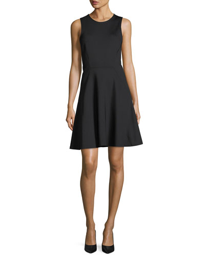 Mod Panel Sleeveless Fit-and-Flare Dress