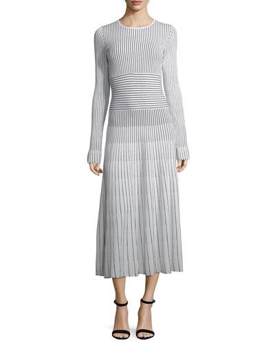 Sheridan Striped Sweaterdress