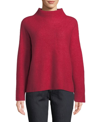 Cashmere-Blend V-Neck Top