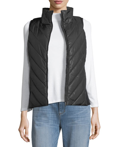 Parka Parts Zip-Front Vest, Plus Size