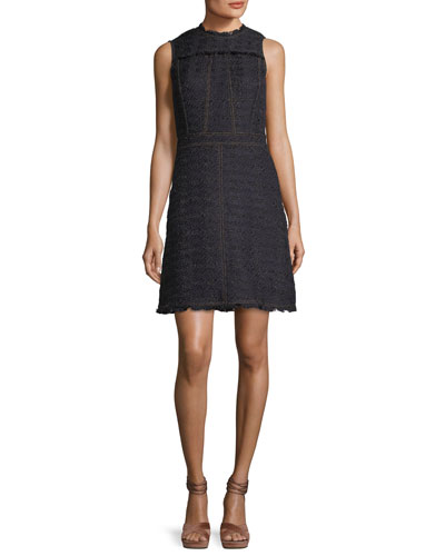 Aria Sleeveless Tweed Dress