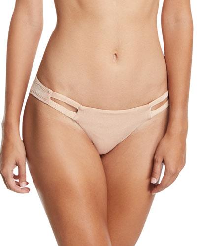 Neutra Hipster Swim Bikini Bottom, Rose Gold