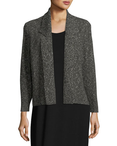 Textured Organic-Linen Boxy Jacket
